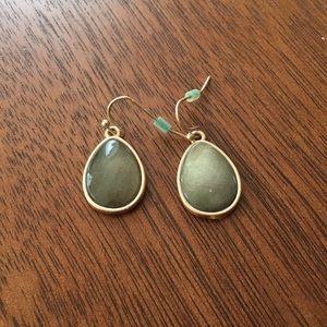 Old Navy green & gold earrings